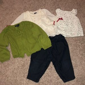 Baby girl mix and match 4-pcs Adorable outfit